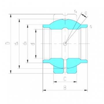 17 mm x 30 mm x 17 mm  LS GEEW17ES-2RS plain bearings