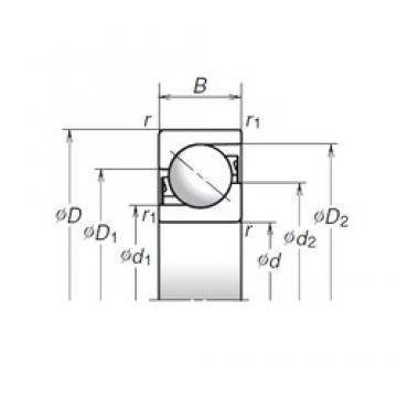 80 mm x 170 mm x 39 mm  NSK 80TAC03AM thrust ball bearings