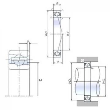 100 mm x 150 mm x 24 mm  NSK 100BER10X angular contact ball bearings