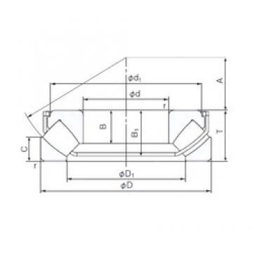 140 mm x 240 mm x 38,5 mm  NACHI 29328EX thrust roller bearings