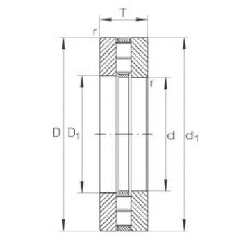 INA 89317-M thrust roller bearings