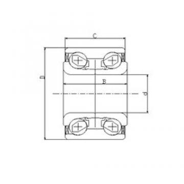45 mm x 84 mm x 42 mm  ILJIN IJ141004 angular contact ball bearings