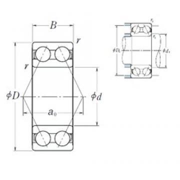 35 mm x 80 mm x 34,9 mm  NSK 5307 angular contact ball bearings