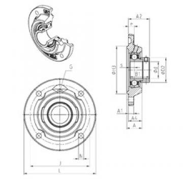 SNR ESFEE205 bearing units