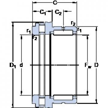 SKF NKXR 15 cylindrical roller bearings