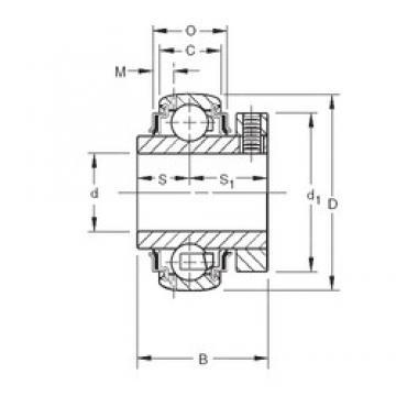 49,2125 mm x 90 mm x 48,42 mm  Timken GC1115KRRB deep groove ball bearings