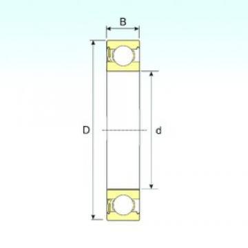 4 mm x 16 mm x 5 mm  ISB 634-RZ deep groove ball bearings