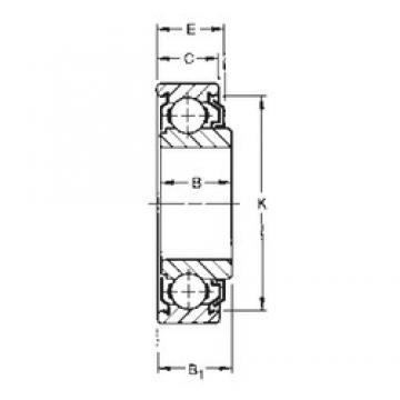 8 mm x 22 mm x 9,8 mm  Timken 38KLD deep groove ball bearings