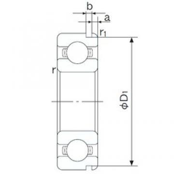 95 mm x 130 mm x 18 mm  NACHI 6919N deep groove ball bearings