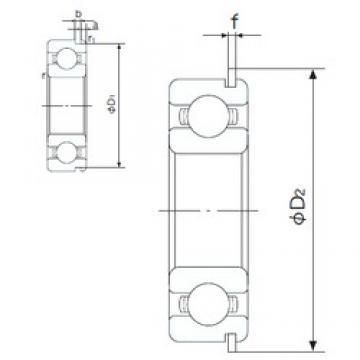 90 mm x 160 mm x 30 mm  NACHI 6218NR deep groove ball bearings
