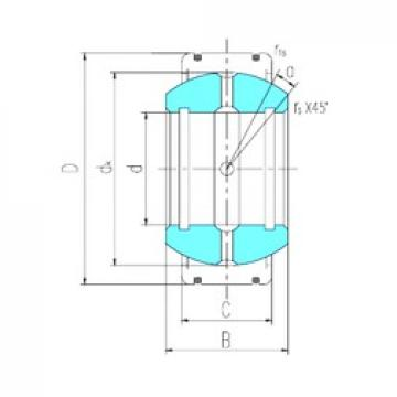 30 mm x 70 mm x 47 mm  LS GEK30XS-2RS plain bearings