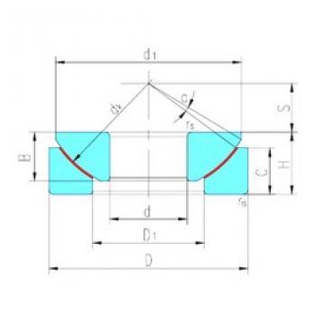 12 mm x 35 mm x 9,5 mm  LS GX12T plain bearings