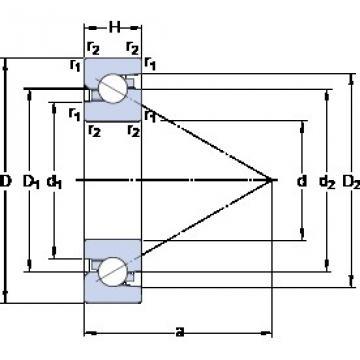 SKF BSD 4072 C thrust ball bearings