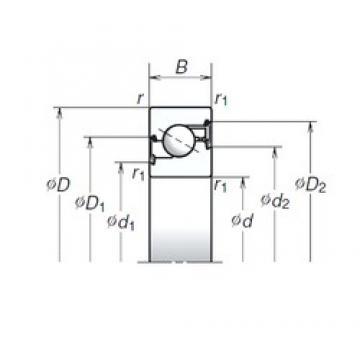 40 mm x 72 mm x 15 mm  NSK 40TAC72BDDG thrust ball bearings
