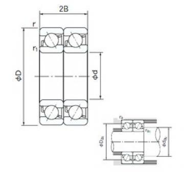 55 mm x 120 mm x 29 mm  NACHI 7311BDT angular contact ball bearings