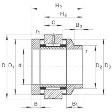 40 mm x 75 mm x 11 mm  INA ZARN4075-L-TV complex bearings