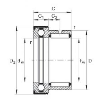INA NKX50-Z complex bearings