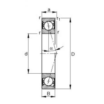 15 mm x 28 mm x 7 mm  FAG B71902-C-2RSD-T-P4S angular contact ball bearings