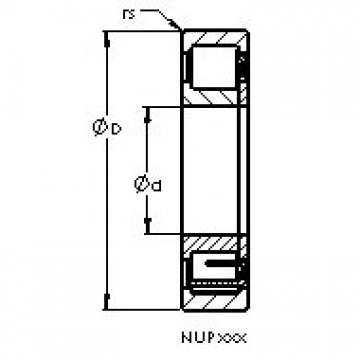AST NUP2318 E cylindrical roller bearings
