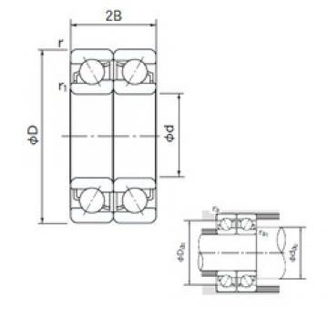 105 mm x 225 mm x 49 mm  NACHI 7321BDF angular contact ball bearings