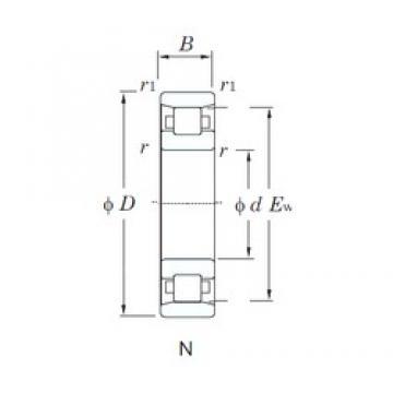 240 mm x 440 mm x 72 mm  KOYO N248 cylindrical roller bearings