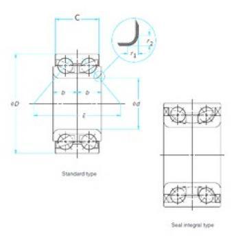 49 mm x 84 mm x 48 mm  NSK ZA-49BWD03CA153 angular contact ball bearings