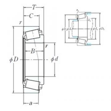 146,05 mm x 268,288 mm x 74,612 mm  NSK EE107057/107105 cylindrical roller bearings