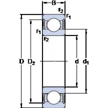 20 mm x 42 mm x 16 mm  SKF 63004-2RS1 deep groove ball bearings