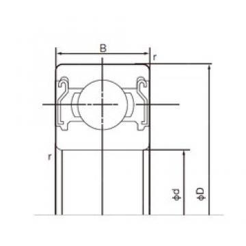 55 mm x 100 mm x 21 mm  NACHI 6211ZZE deep groove ball bearings