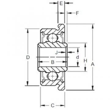 4,762 mm x 14,305 mm x 6,35 mm  Timken F3DD deep groove ball bearings