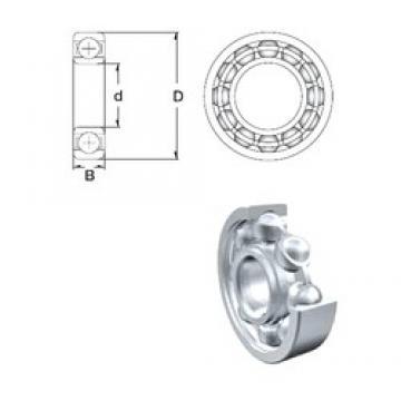 12 mm x 21 mm x 6 mm  ZEN 62801 deep groove ball bearings