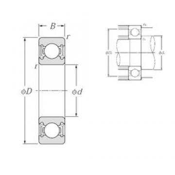 15 mm x 28 mm x 7 mm  NTN 6902LLU deep groove ball bearings