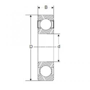 25 mm x 52 mm x 15 mm  SIGMA 6205 deep groove ball bearings