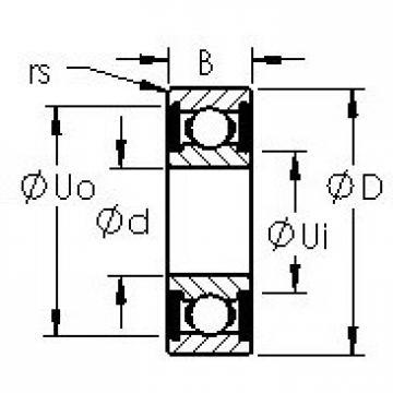 AST SMR126-2RS deep groove ball bearings