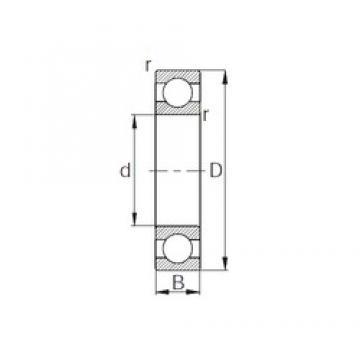 30 mm x 72 mm x 19 mm  KBC 6306 deep groove ball bearings