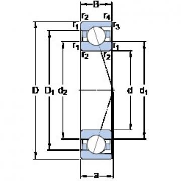 140 mm x 250 mm x 42 mm  SKF 7228 CD/P4A angular contact ball bearings