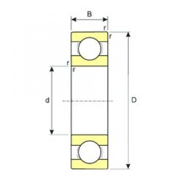 5 mm x 16 mm x 5 mm  ISB 625 deep groove ball bearings