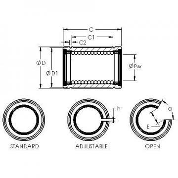 AST LBE 25 UU OP linear bearings