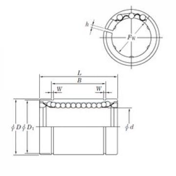 35 mm x 52 mm x 49.5 mm  KOYO SESDM35 AJ linear bearings