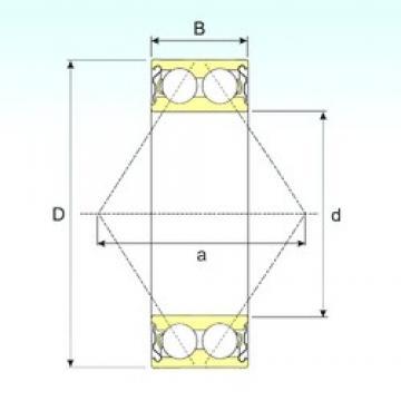 80 mm x 140 mm x 44,4 mm  ISB 3216-ZZ angular contact ball bearings