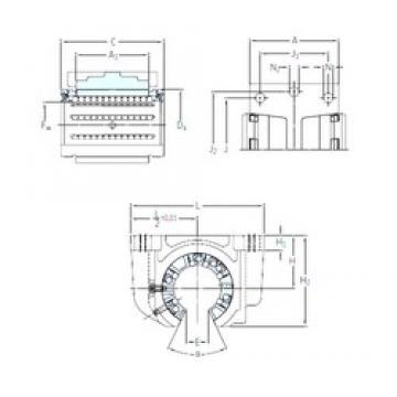 SKF LUCF 16-2LS linear bearings