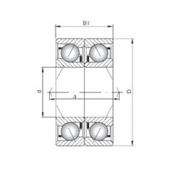 ISO 7028 CDB angular contact ball bearings