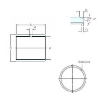 45 mm x 50 mm x 20 mm  SKF PCM 455020 E plain bearings