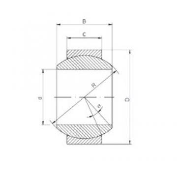 17 mm x 35 mm x 20 mm  ISO GE 017 HS-2RS plain bearings