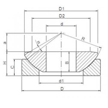 200 mm x 340 mm x 74 mm  ISO GE200AW plain bearings