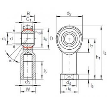8 mm x 19 mm x 12 mm  INA GIKFR 8 PW plain bearings