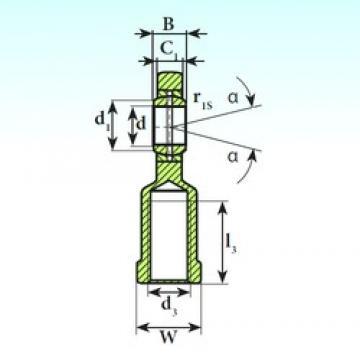 30 mm x 47 mm x 22 mm  ISB SI 30 ES plain bearings