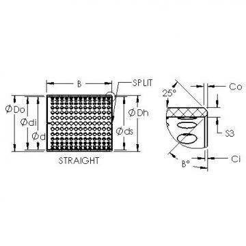 AST ASTT90 7570 plain bearings