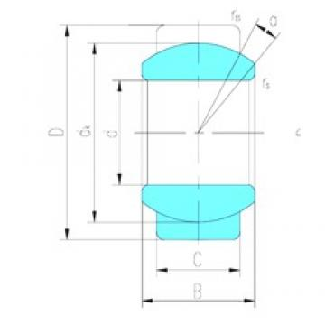 5 mm x 14 mm x 6 mm  LS GE5E plain bearings