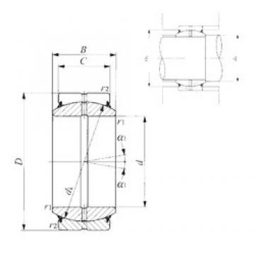 300 mm x 430 mm x 165 mm  IKO GE 300ES-2RS plain bearings